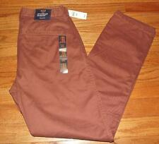 NEW NWT Mens GAP Khakis Lived In Tapered Khaki 100% Cotton Cinnamon Brown *N4