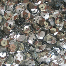 Sequins Silver 5mm Round Cup ~1,000 pieces or ~12,500 pieces Loose HQ