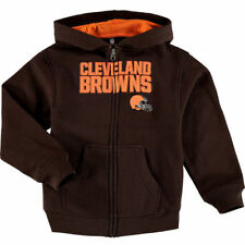 Cleveland Browns Toddler Fan Gear Stated Full Zip Hoodie - Brown - NFL
