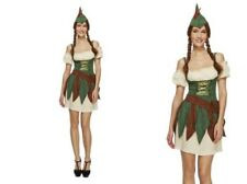 Medieval Robin Hood Costume Ladies Sexy Outlaw Fancy Dress Outfit Size 6 - 14