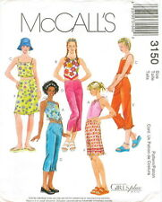 McCalls 3150 Girls Tops Cropped Pants Skirt Sewing Pattern ~ Size 12 14 16