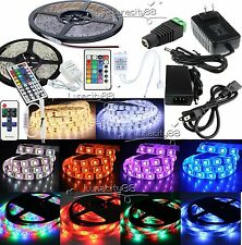 5M 10M 300leds SMD 3528 5050 5630 Flexible Strip Light 12V +Remote +Power Supply