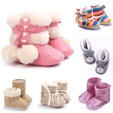 0-18 Monthts Toddler Infant Baby Girls Soft Sole Shoes Winter Christmas Boots