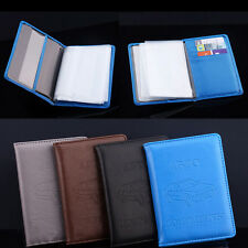 Russian Auto Driver PU Leather Car Driving Documents Card Holder Purse Wallet US