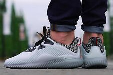 ADIDAS ALPHABOUNCE MENS RUNNING SHOES GREY SIZE 6 7 8 9 10 11 12 13 14 I AQ8214