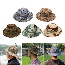 Bucket Hat Boonie Hunting Outdoor Wide Brim UV Sun Men Cap Military Fishing