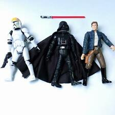 3pcs STAR WARS Clone Pilot TROOPER,Darth Vader,Han Solo action Figures movie toy