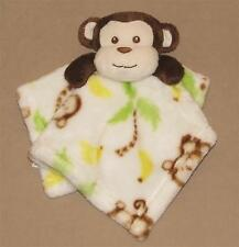 Little Miracles Brown Tan Monkey Security Blanket Lovey Green Palm Print Costco