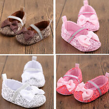 Infant Soft Crib Sole Shoes Baby Moccasin Toddler Prewalkers 0-18 Months Size