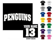 Penguins College Letters Hockey Custom T-shirt #271 - Free Shipping
