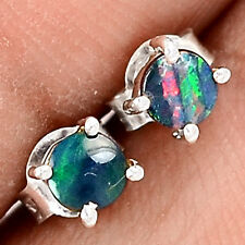 Australian Fire Opal 925 Sterling Silver Earrings Jewelry SE55749