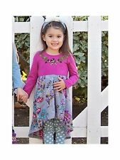 NEW Mimi & Maggie Whispering Forest Collection Kimono Flowers Dress Girls