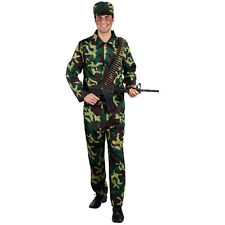 Mens Army Soldier Costume for Military Army Soldiers Fancy Dress Mans Male