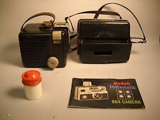 VINTAGE LOT OF KODAK Items 2 Cameras with CANISTER and INSTRUCTION MANUAL