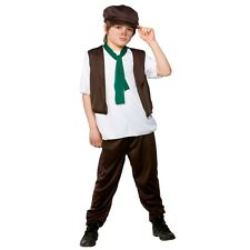 Boys Victorian Boy Costume for Fancy Dress Childrens Kids Childs
