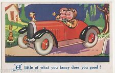A Little of What You Fancy Does You Good Motoring Comic Postcard, B571