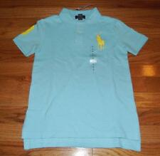 NEW Polo Ralph Lauren Boys Short Sleeve Polo Shirt BIG PONY LOGO Blue *3R