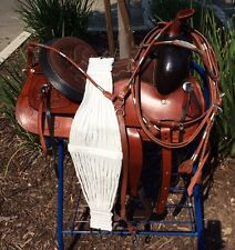 """13"""" NEW ALL LEATHER TAN OILY  WESTERN PLEASURE  TRAIL SADDLE PACKAGE GREAT BUY"""