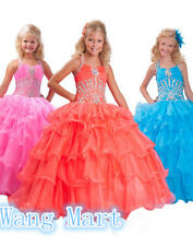 Flower Girl Dress for Wedding Birthday Communion Prom Ball Gown Pageant Party 10