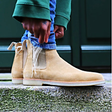COMMON PROJECTS TAN CREPE BOOTS SIZE 7 8 9 10 11 12 13 PABLO KANYE WEST V2