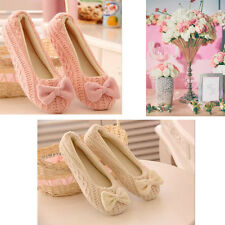 Women Girl Winter Warm Bowknot Soft Indoor Home Slippers House Casual Shoes Hot