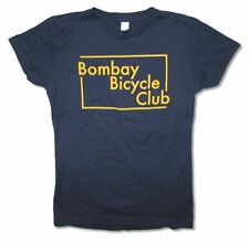 Bombay Bicycle Club Yellow Logo Girls Juniors Navy Blue T Shirt New Official BBC