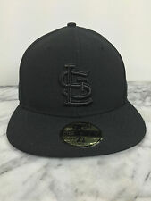 St. Louise Cardinals BK BK Hats MLB 100% Authentic New Era 59Fifty Fitted Cap