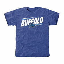 Buffalo Bulls Double Bar Tri-Blend T-Shirt - Royal - College