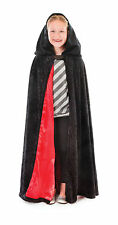 Childs Velvet Hooded Cloak 88cm Costume Cape Coat Hood Superhero Fancy Dress