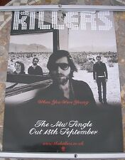 THE KILLERS When You're Young 2006 promo poster 30 x 20  original