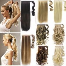 1 PCS Curly Straight Ponytail Clip in Hair Extensions Long Natural Hairpiece HV7