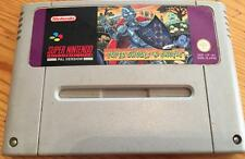 SNES GAME SUPER NINTENDO SUPER GHOULS N AND GHOSTS PAL UKV