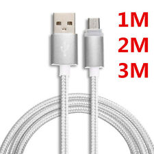 1M 2M 3M High Speed Braided Micro USB  Fast Data Sync Charger Charging Cable