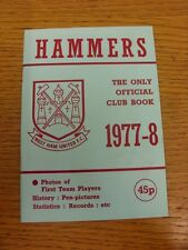 1977/1978 West Ham United: Official Handbook, The Only Official Club Book, Large
