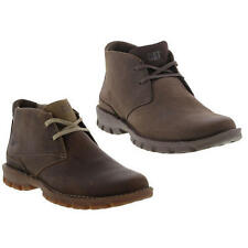 Caterpillar Mitch Mens Brown Leather Lace Up Ankle Boots Size UK 10