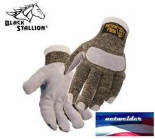 REVCO CUT-RESISTANT GLOVES with LEATHER REINFORCED PALM - SK5-LP