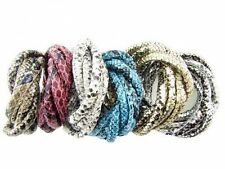 1m/5m Snake Skin Faux Leather Wire Cord Bracelet Necklace DIY Jewelry Findings