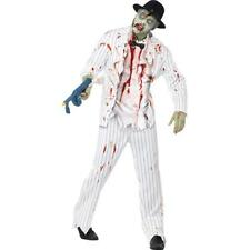 Men's 20's Pinstriped Zombie Gangster Costume Halloween Fancy Dress - 01- 43042