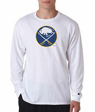 Buffalo Sabers Throwback Champion LONG SLEEVE T-Shirt Mens Tagless T Shirt