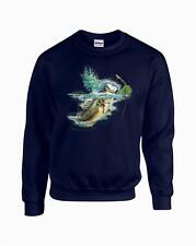 Jumping Lambert Bass Fishing Largemouth Crewneck Sweatshirt