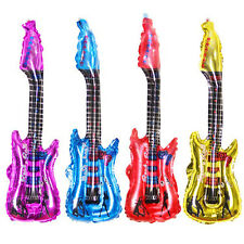 Guitar inflatable Cheer foil balloon stick for birthday party decor kid toy WB