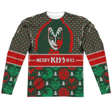 T-Shirts Sizes S-3XL New Kiss Merry Kissmas Long Sleeve Sub TShirt Christmas