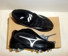 Mizuno Franchise MID Heritage Fit FB36MBK Youth Baseball Cleats NIB Blk/Silver