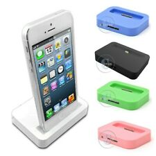 CHARGE SYNC USB DOCK STATION DESKTOP STAND FOR APPLE iPHONE 4s 5 5s 5c Touch 4G