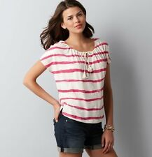 Ann Taylor Loft Burnt Stripe Peasant  Dolman Knit tee top L NWT