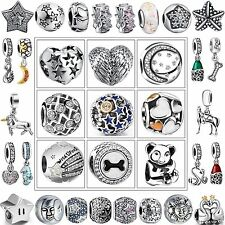 Hot Luxury Fashion 925 Sterling Silver Charms European Bead For Bracelet Bangle