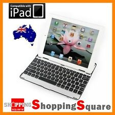 Aluminum Wireless Bluetooth Keyboard Case Cover For Apple the New iPad 2 3 Black