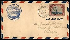 MAYFAIR99 DEDICATION FEB 15 1929 MADISON WIS TO CHICAGO IL BLUE RED STRIPES ON C