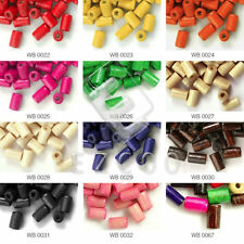 30g 450pcs Approx Tube Wood Beads Spacer Loose Beads 8x5mm Jewelry Makings WB3