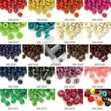 30g 810pcs Approx Rondelle Wooden Wood Beads Spacer Beads 3x6mm Jewelry Makings